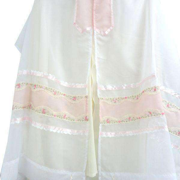 Pink Ribbon Floral Embroidry tallit for women Galilee Silks-Israel-Cart