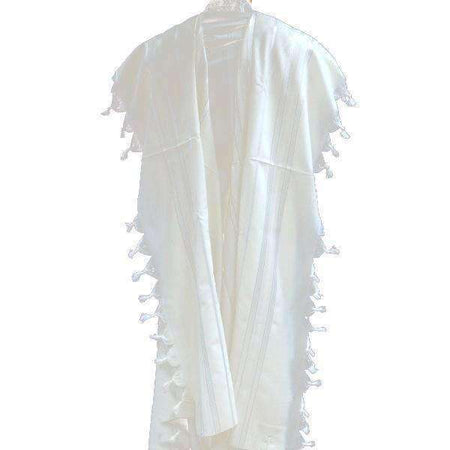 Shiny and Gold Stripes Prima AA Wool Tallit Prayer Shawl size 8 7.87x41.3