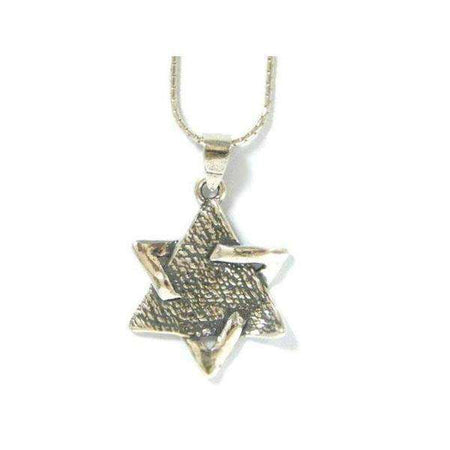 Silver Shablool Sectioned Star of David Necklace-Israel-Cart