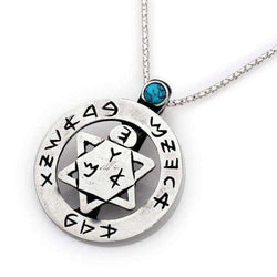 Silver Star of David Amulet Eight Defenses in One Star-Israel-Cart