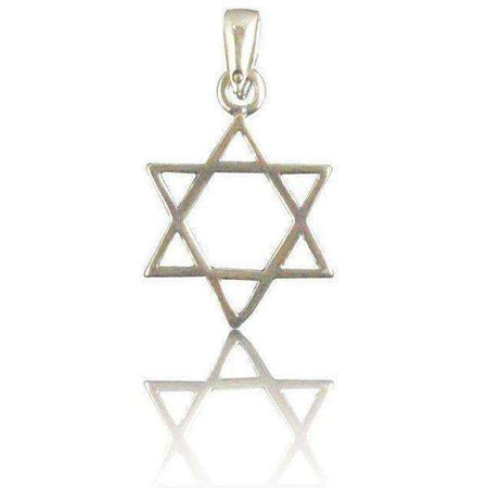 Silver Star of David Necklace Simplistic Modern Style-Israel-Cart