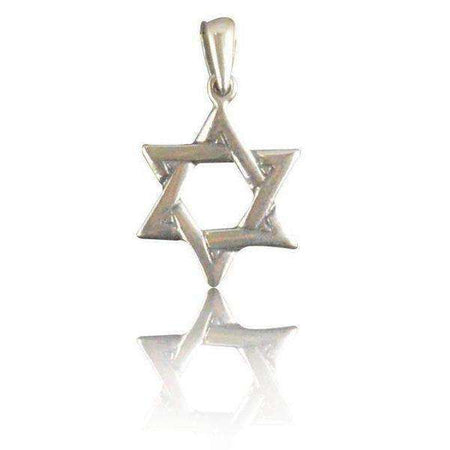 Sterling Silver Star of David Necklace Interwoven Style-Israel-Cart