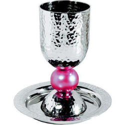 Silver Colored Anodized Alluminum Kiddush Cup