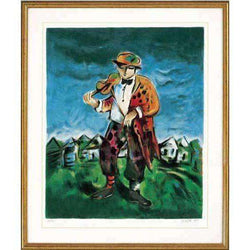 Yosl Bergner - The Fiddler Limited Edition Serigraph-Israel-Cart