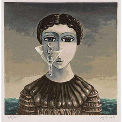"Yoss`l Bergner ""Girl with Tears""-Israel-Cart"