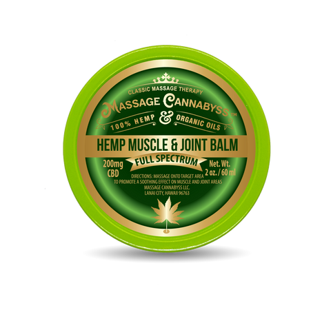 Image of Hemp Muscle & Joint Balm (Salve Gel Topical Cream Rub Ointment)