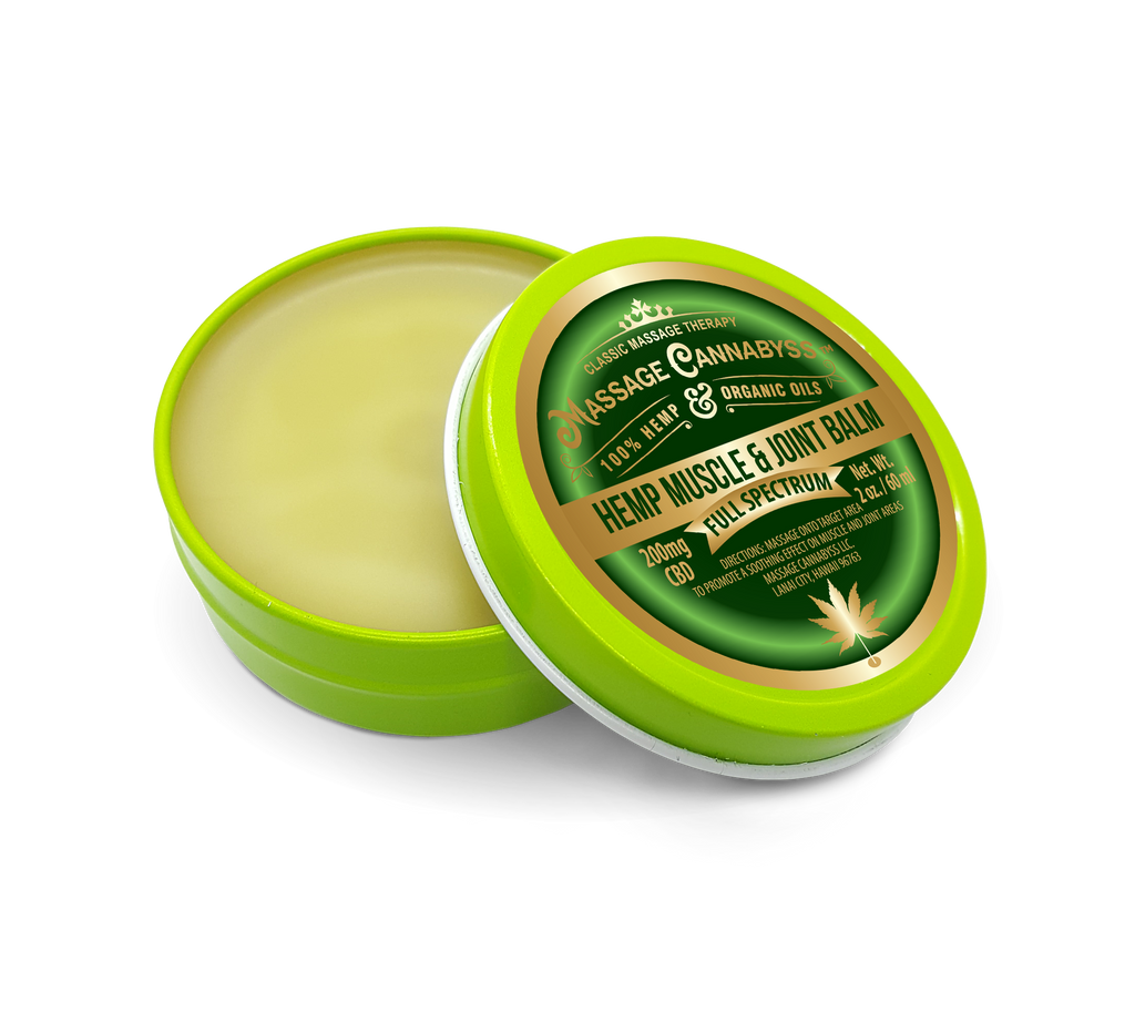 CBD Hemp Muscle and Joint Balm - Salve Gel Cream Topical Rub Ointment
