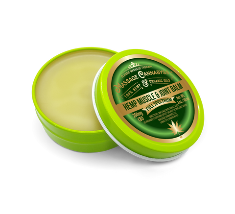 Image of CBD Hemp Muscle and Joint Balm - (Salve Gel Cream Topical Rub Ointment)