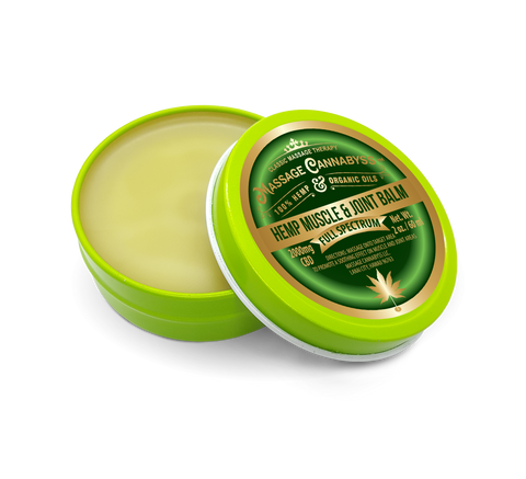 CBD Hemp Muscle and Joint Balm - (Salve Gel Cream Topical Rub Ointment)