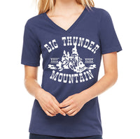 Big Thunder Mountain Railroad Women's V-Neck