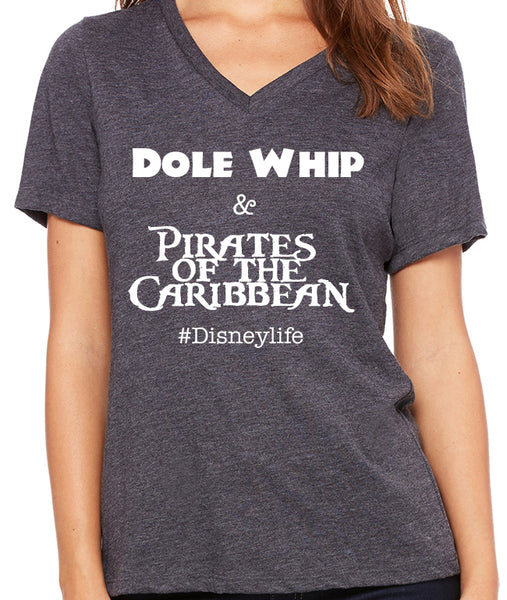 Dole Whip & Pirates of the Caribbean  Women's V-Neck