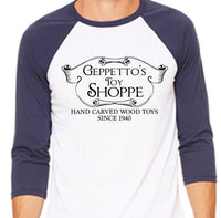 Geppetto's Toy Shoppe Baseball Shirt