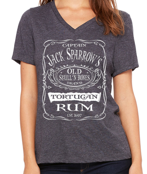 Captain Jack Sparrows Tortugan Rum  Women's V-Neck