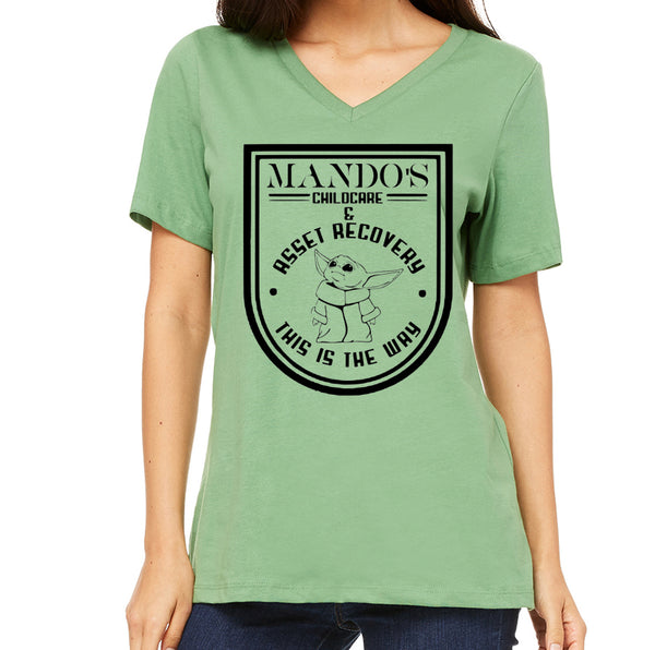Mando's Childcare Women's V-Neck