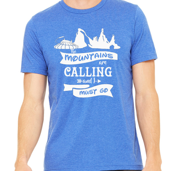 The Mountains are Calling and I must go Unisex Tee