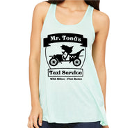 Mr Toad's Taxi Service Racerback Tank