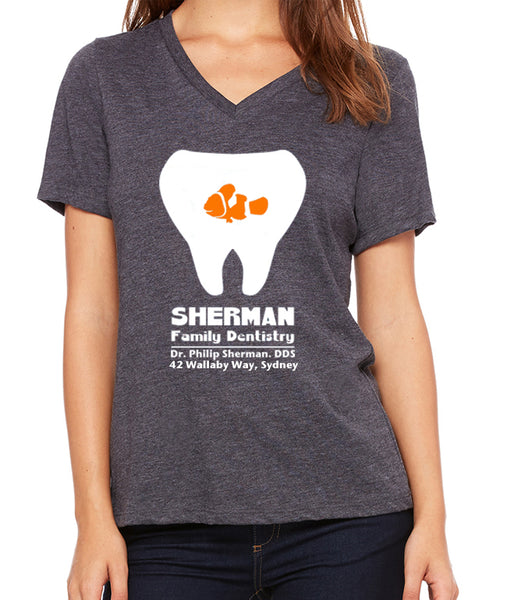 P. Sherman Family Dentistry  Women's V-Neck
