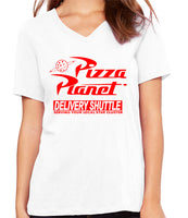 Pizza Planet  Women's V-Neck