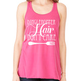 Dinglehopper Hair Don't Care Racerback Tank