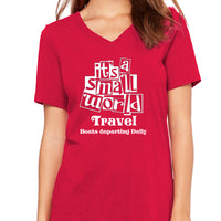 Its a Small World TravelWomen's V-Neck