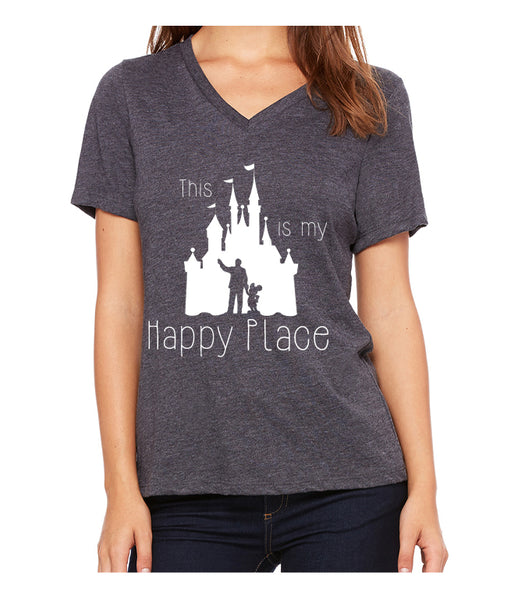 This is my Happy Place  Women's V-Neck