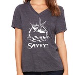 Savvy?  Women's V-Neck