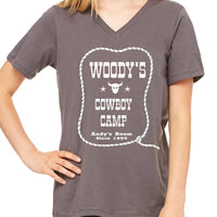 Woody's Cowboy Camp  Women's V-Neck