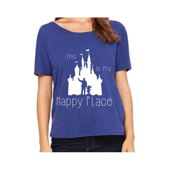Women's Slouchy This is my Happy Place Shirt
