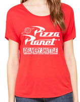 Women's Slouchy Pizza Planet Delivery Shuttle