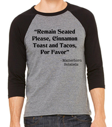 Matterhorn Ride Quote Unisex Baseball