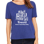 Women's Slouchy Its a Small World Travel