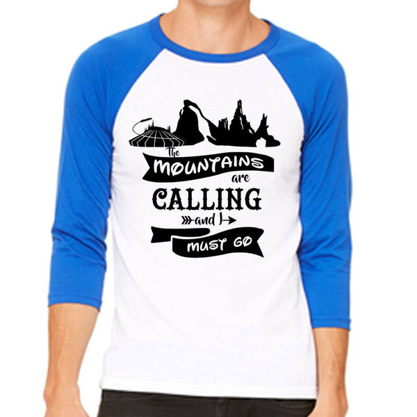 The Mountains are calling and I must go Unisex Baseball