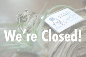 We're closed!