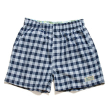 Room Wear / Boyfriend's Shorts / Boxer / Made in Hawaii U.S.A. / Palaka Navy
