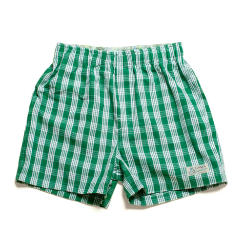 Room Wear / Boyfriend's Shorts / Boxer / Made in Hawaii U.S.A. / Palaka Green