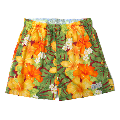 Room Wear / Hibiscus / Boyfriend's Shorts / Boxer / Made in Hawaii U.S.A.