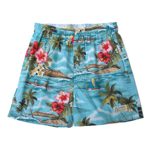 "Aloha Boxer Shorts ""Nalu"" / Made in Hawaii U.S.A."