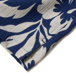 "Cotton Aloha Shirts ""Hibiscus Navy"" / Made in Hawaii U.S.A."