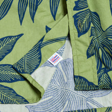 "Hawaiian Button Down Shirts ""Leaves Green"" / Made in Hawaii U.S.A."