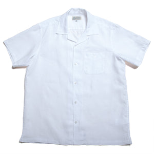 "100% Linen Aloha Shirts ""White"" / Made in Hawaii U.S.A."