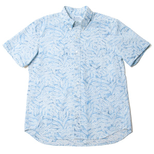 "Button Down Shirts ""Batik Leaves"" / Made in Hawaii U.S.A."
