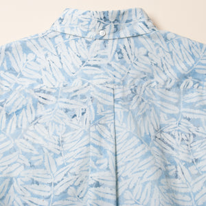 "Batik Button Down Shirts ""Leaves"" / Made in Hawaii U.S.A."