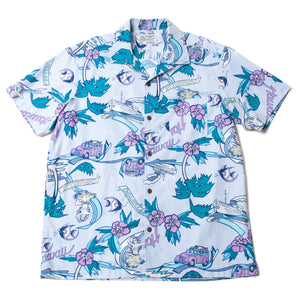 "Cotton Aloha Shirts ""Paradise Hawaii"" / Made in Hawaii U.S.A."