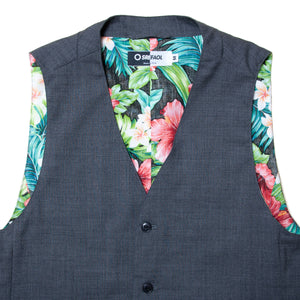 "Copy of TROPICAL WOOL GILET ""Gray"""