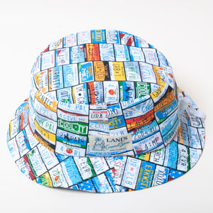 Number Plates Bucket Hat / Made in Hawaii U.S.A.