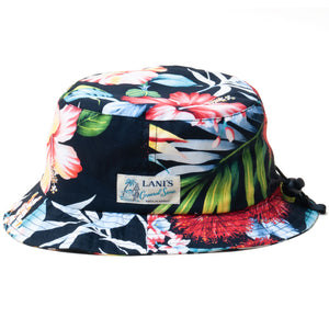 Floral Bucket Hat / Made in Hawaii U.S.A.