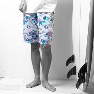 "Aloha Walk Shorts ""Paradise Hawaii"" / Made in Hawaii U.S.A."