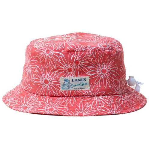 Flower Bucket Hat / Made in Hawaii U.S.A.