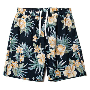 Cotton Floral Walk Shorts / Made in Hawaii U.S.A.
