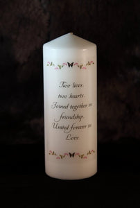 Wedding Candle - Butterfly